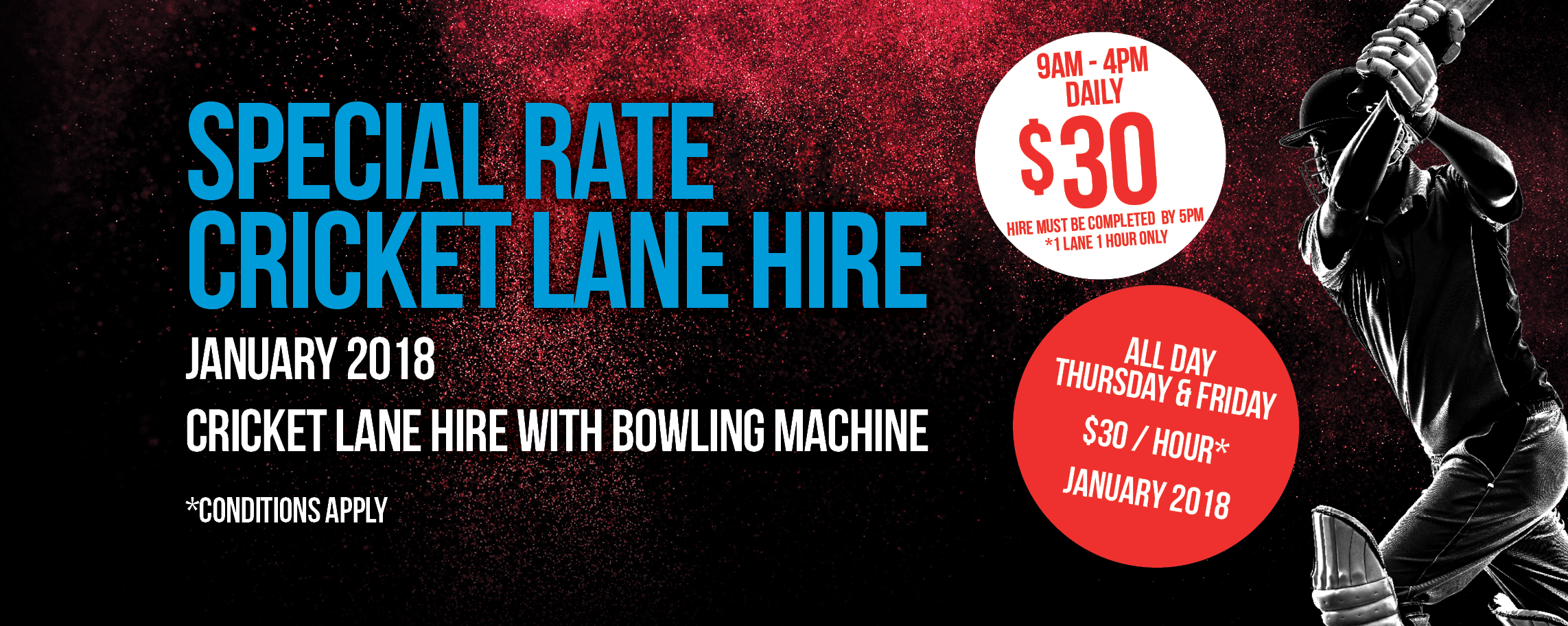 Special Cricket Lane Rate January 2018