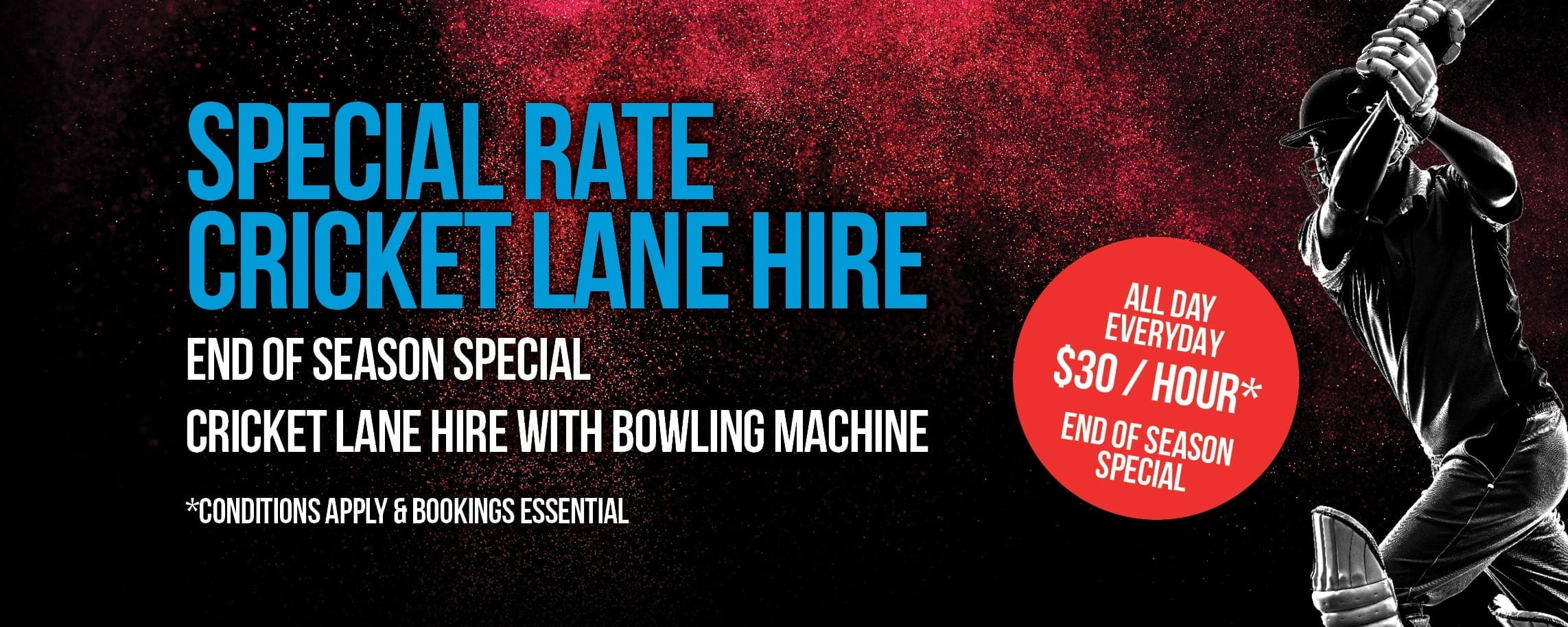 Cricket Lane Hire - End Of Season Special