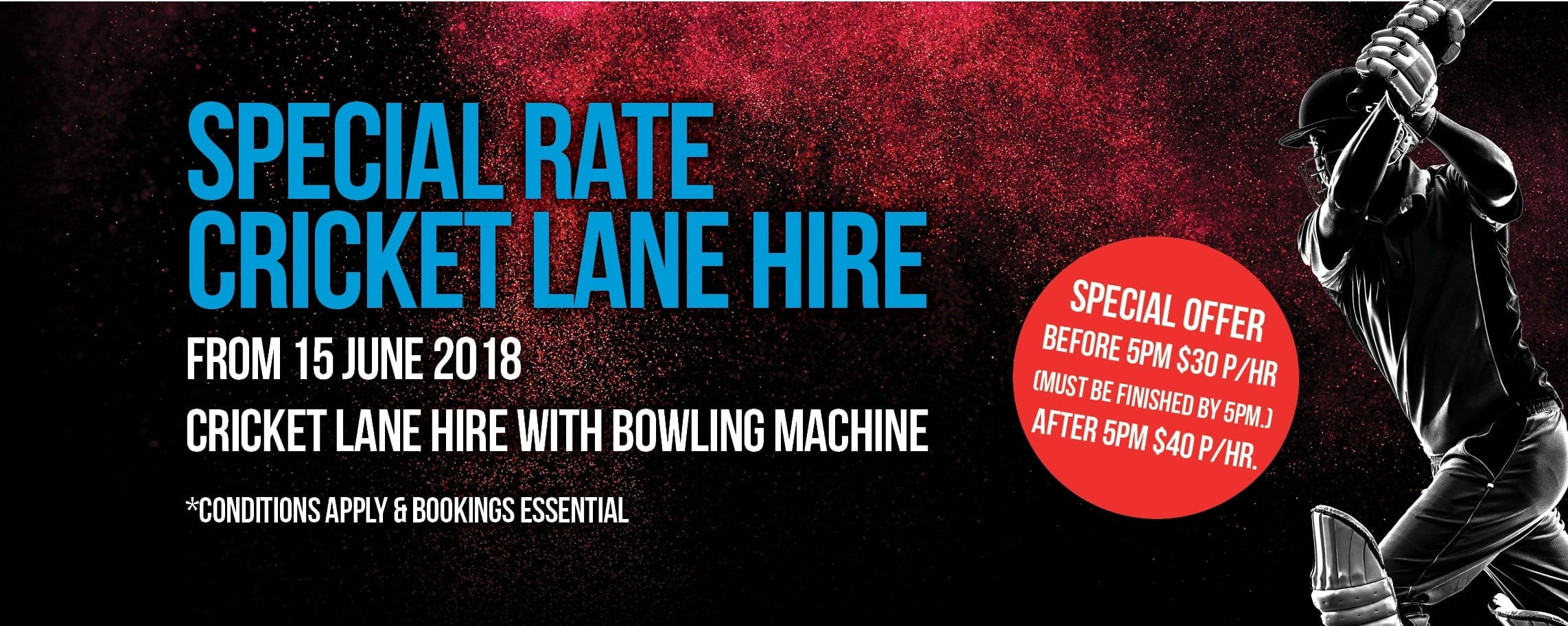 Special Rate Cricket Lane Hire
